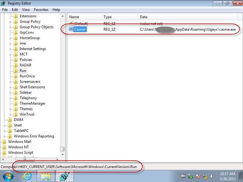 05 - Random Child Process - Registry Settings