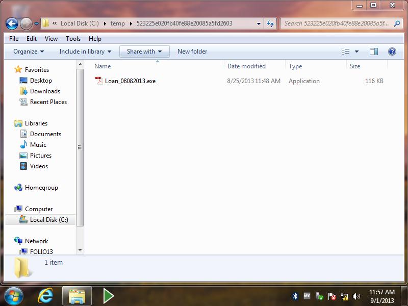 Windows 7 32bit (Honeypot) - Folio-2013-09-01-11-57-21